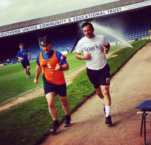 Phil Brown training for the big day