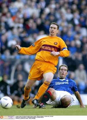 Heyday: Derek Adams was at his best in his time at Motherwell (Action Images / Andy Couldridge)