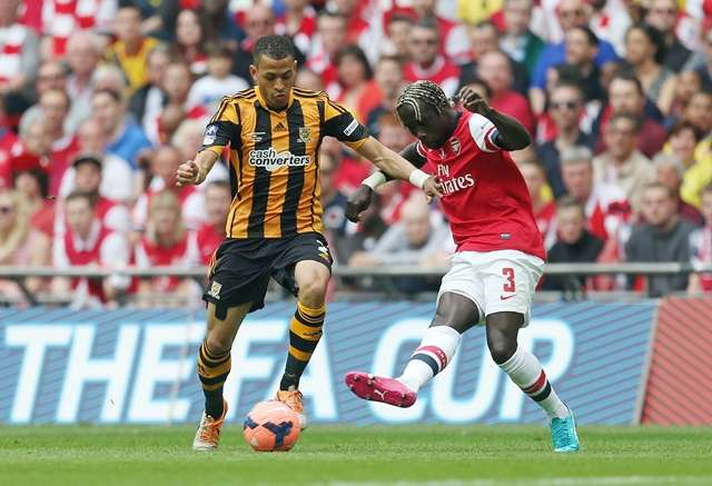Big stage: Rosenior started for Hull in the FA Cup Final versus Arsenal (Photo by Action Images)