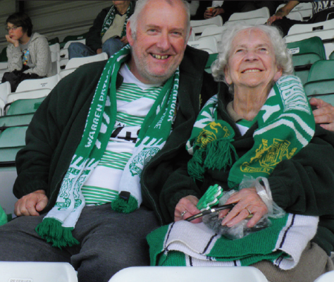 Blind 91 year-old Yeovil fan Audrey to be screen star