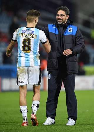"Football Soccer - Huddersfield Town v Charlton Athletic - Sky Bet Football League Championship - John Smith's Stadium - 12/1/16 Huddersfield Town manager David Wagner shakes hands with Jamie Paterson after the game Mandatory Credit: Action Images / Ryan Browne Livepic EDITORIAL USE ONLY. No use with unauthorized audio, video, data, fixture lists, club/league logos or ""live"" services. Online in-match use limited to 45 images, no video emulation. No use in betting, games or single club/league/player publications.  Please contact your account representative for further details."