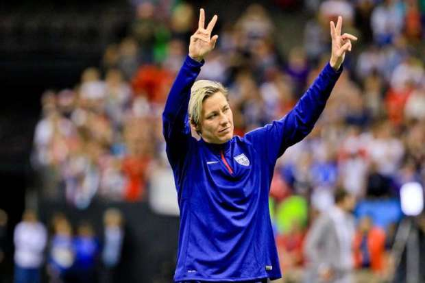 Dec 16, 2015; New Orleans, LA, USA; United States of America forward Abby Wambach (20) salutes fans as she walks off the field following her final appearance with the team following a game against the China PR in the final game of the World Cup Victory Tour that took place at the Mercedes-Benz Superdome. China PR defeated United States of America 1-0. Mandatory Credit: Derick E. Hingle-USA TODAY Sports / Reuters Picture Supplied by Action Images
