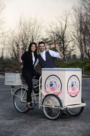 New venture: Rory Fallon and wife Carly have gone into business selling ice cream (photo by Barnsley Chronicle & JMP)