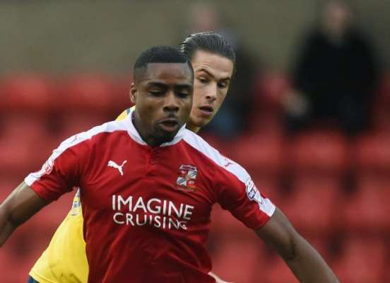 Team-mates: Swindon Town forward Jonathan Obika