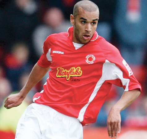 Paul Bignot in action for first club Crewe