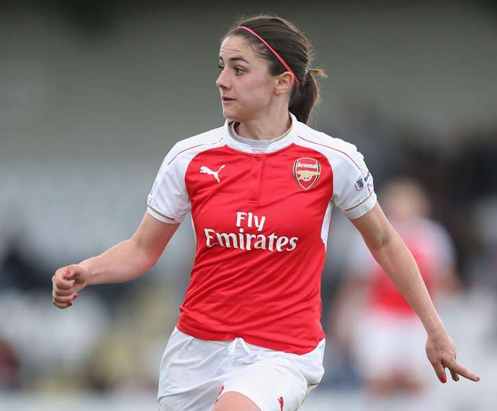 Plenty to shout about: Arsenal's Danielle van de Donk (Photo by Alex Morton - The FA/The FA via Getty Images)