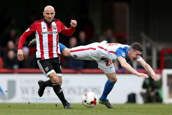 Team-mates: Brentford midfielder Alan McCormack