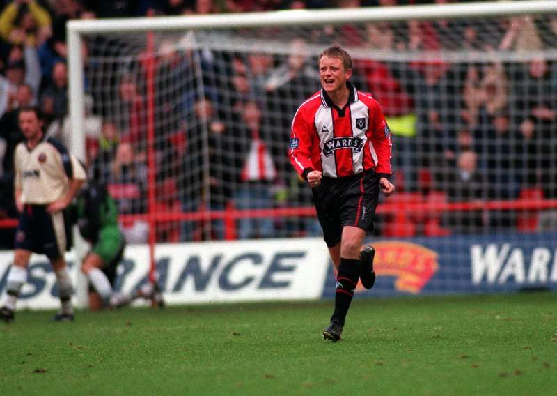 Old days: Wilder in action for the Blades (photo by Action Images)