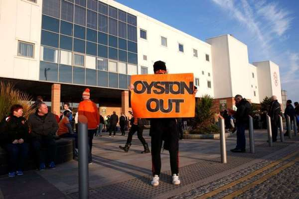 Oyston refuses to quit as fans vent dismay
