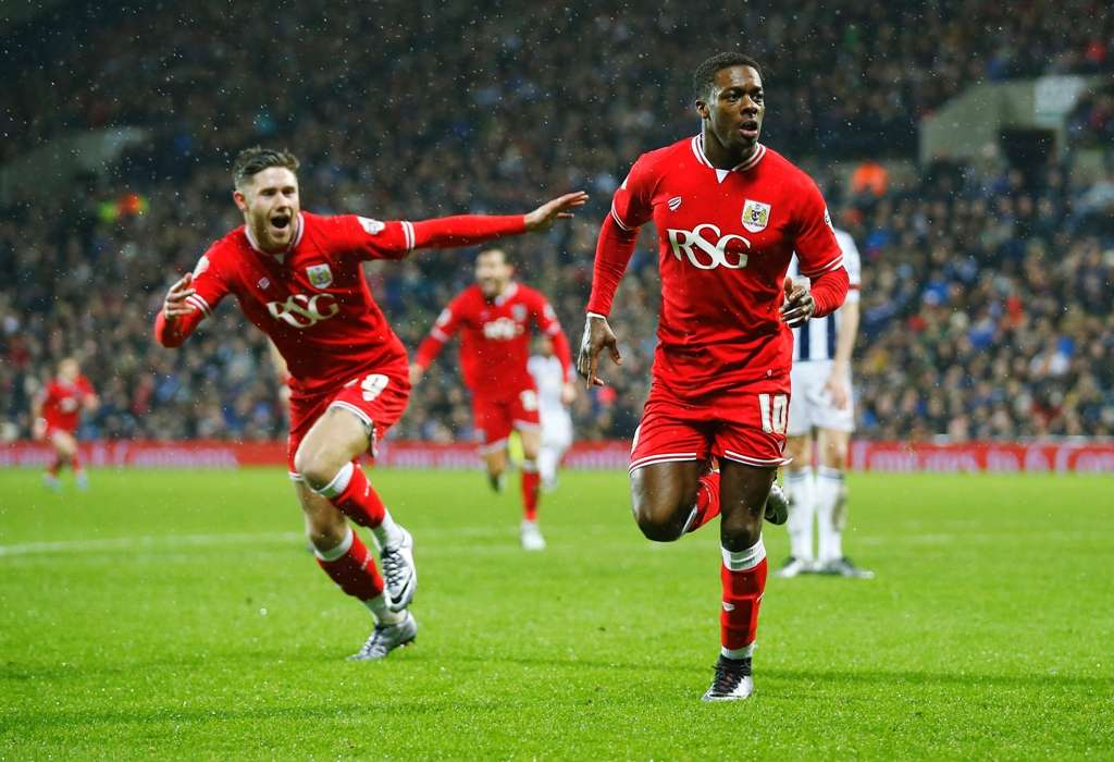 Agard, pictured here at Bristol City, is off the mark for MK Dons in brilliant fashion