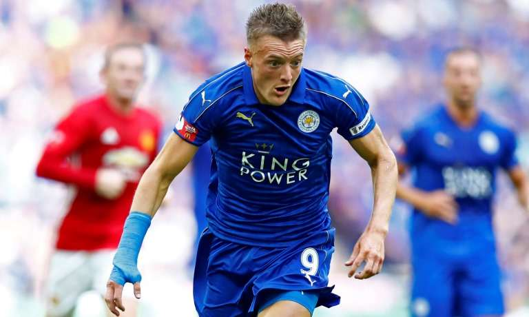 Vardy's meteoric rise is an inspiration to young strikers such as Khan