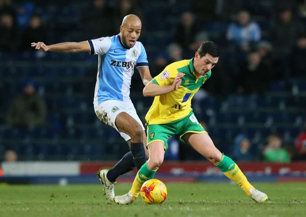 You got a friend in me: Alex Baptiste in action for Blackburn, where Gary Bowyer was his manager (Photo by Action Images)