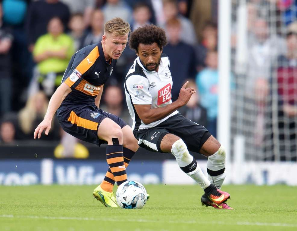 Ikechi Anya scored his first of the season, and Derby's second, in the 1-1 draw