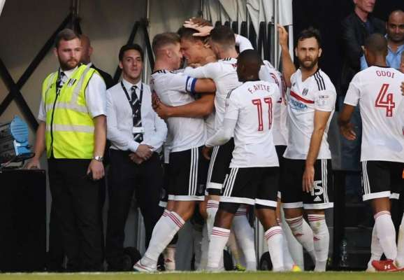 Team-mates: Fulham striker Matt Smith