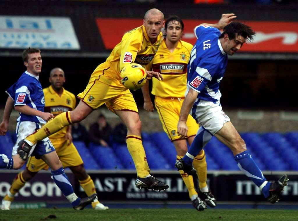 McGreal battling against former club Ipswich during his time at Burnley
