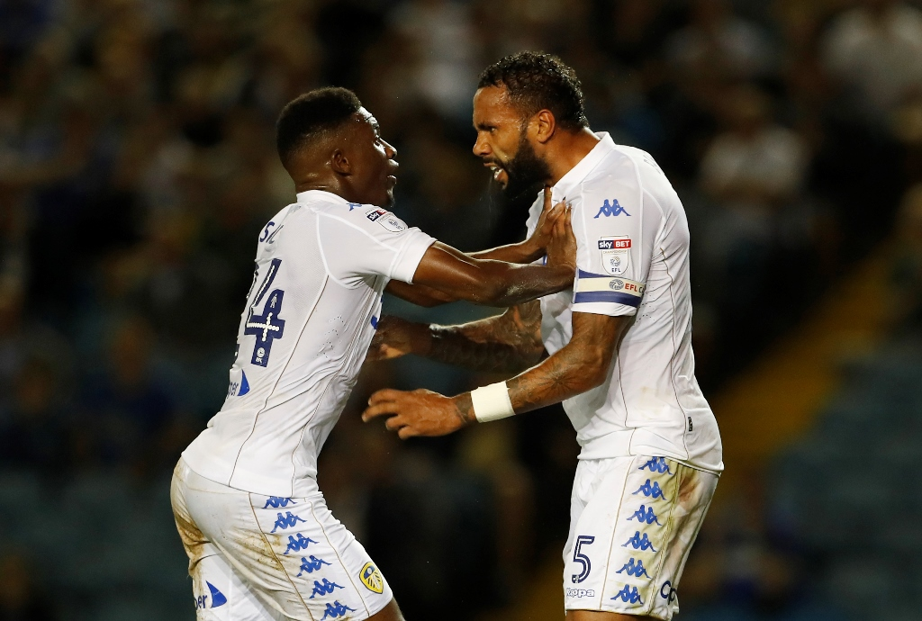 Ain't no stopping us now: Leeds midfielder Hadi Sacko is one for strutting his moves on the dancefloor (photo by Action Images)