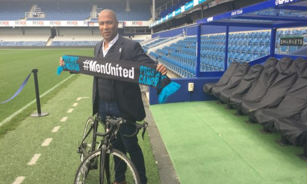 Ferdinand gets on his bike for Prostate Cancer UK