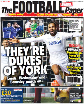 The Football League Paper – our next edition will be on sale Tuesday 27 December