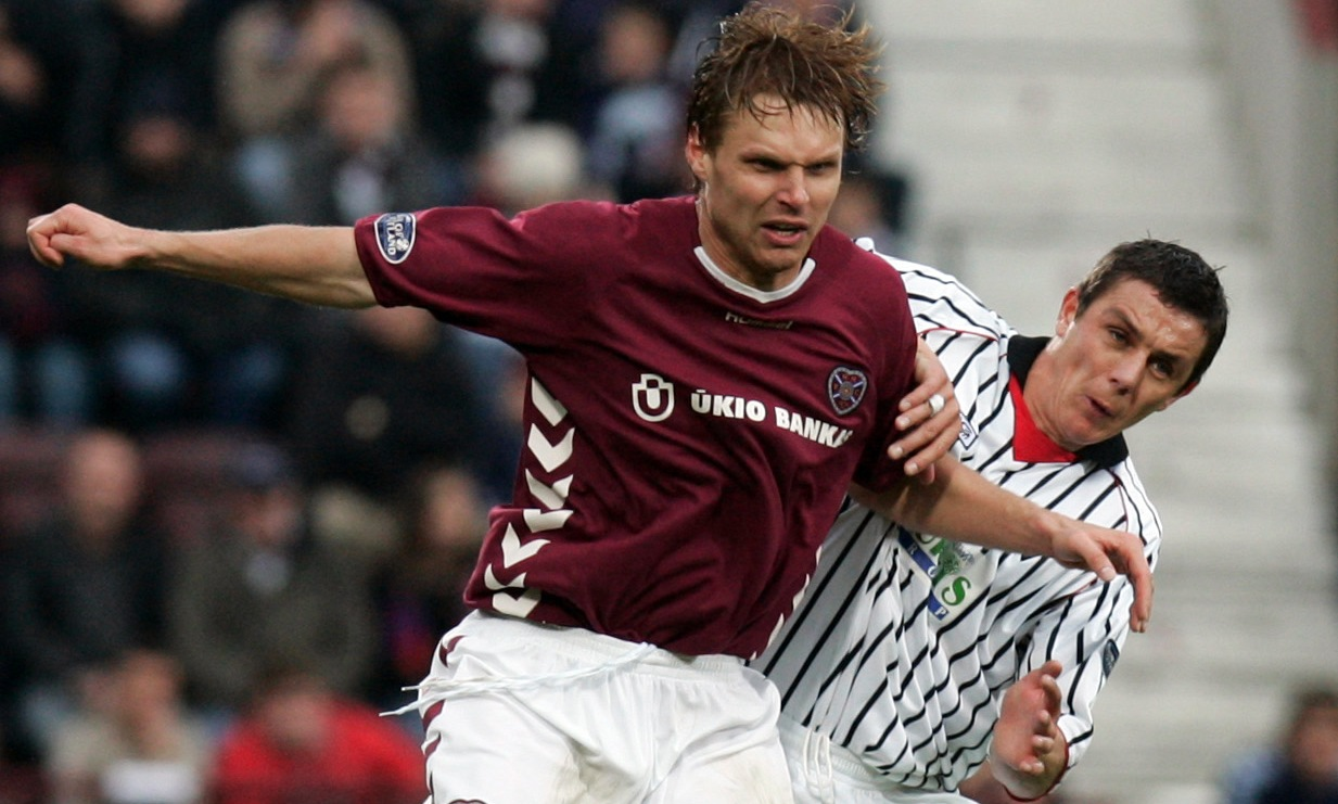 Throwback: Hearts' Robbie Neilson and Dunfermline Gary Mason in action back in 2005