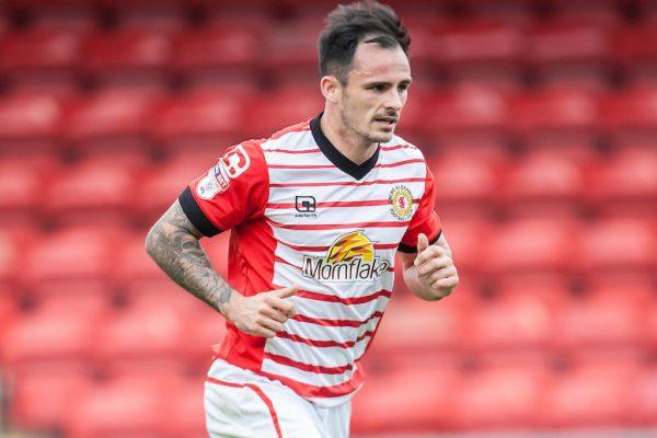 Team-mates: Crewe Alex striker Chris Dagnall