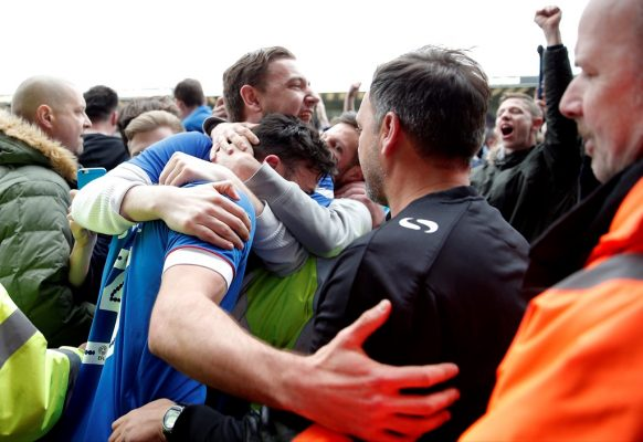 Pompey's player of the season Enda Stevens shares delight at title triumph with fans
