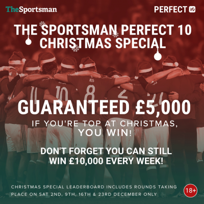 Play The Sportsman's Perfect 10 football predictor game for your chance to win £10,000!
