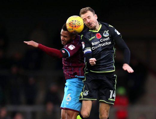 Team-mates – Bristol Rovers midfielder Chris Lines