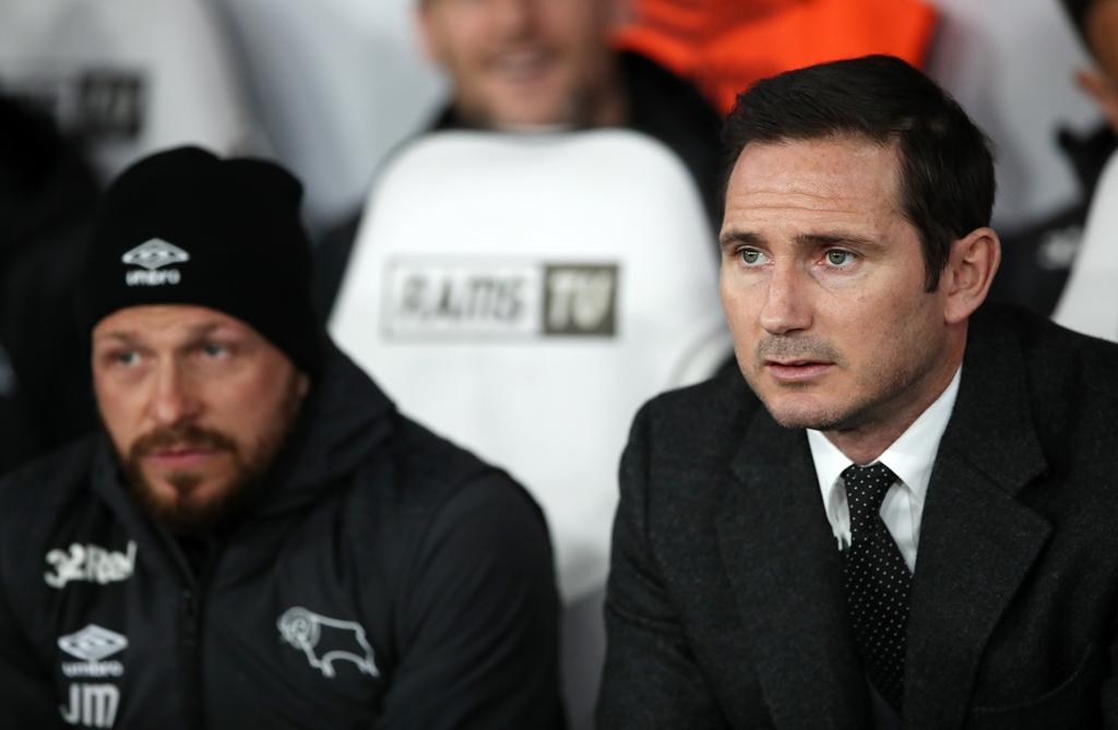Derby County boss Frank Lampard