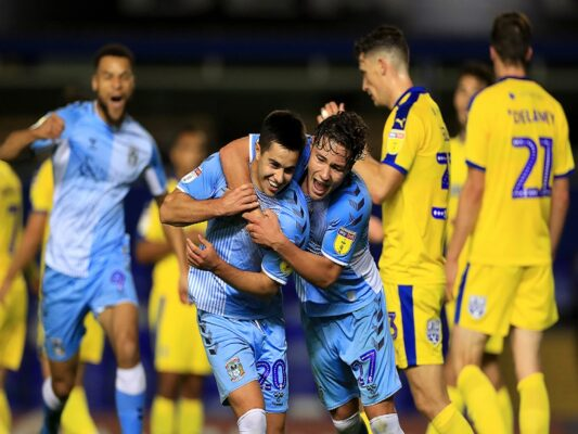 Walsh revels in last-minute winner to keep Coventry top