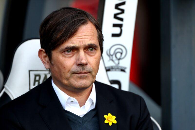 Derby County head coach Phillip Cocu
