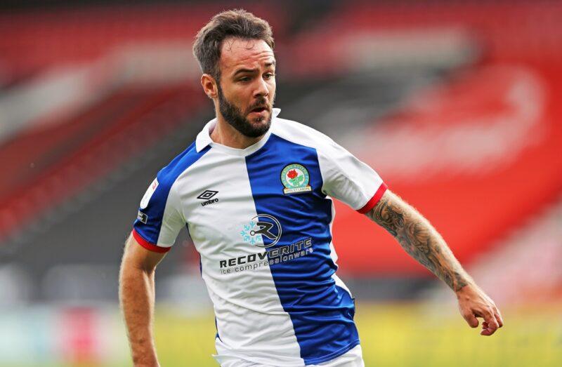 Blackburn Rovers striker Adam Armstrong