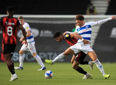 QPR midfielder Luke Amos will miss the rest of the season