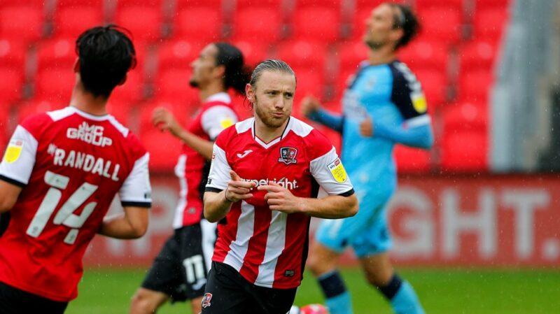Exeter City forward Matt Jay