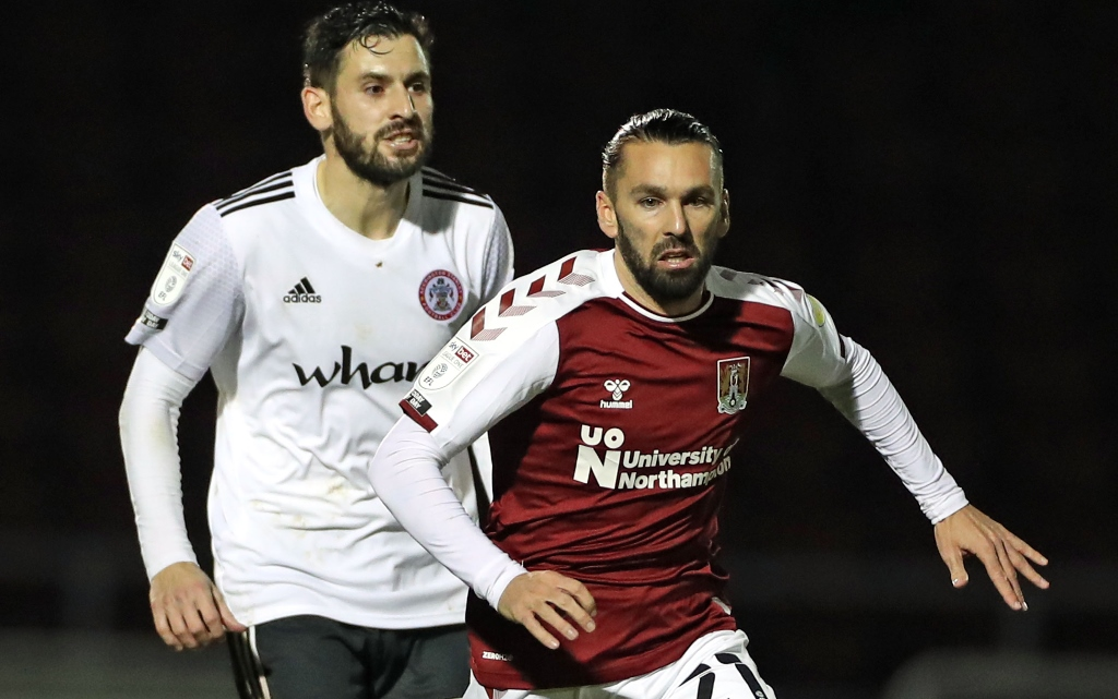 Northampton winger Ricky Holmes savours first slice of action in over two years