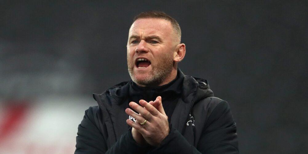 Derby County interim head coach Wayne Rooney
