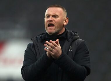 Derby County interim head coach Wayne Rooney